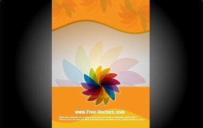 Orangey Flourish Banner Template