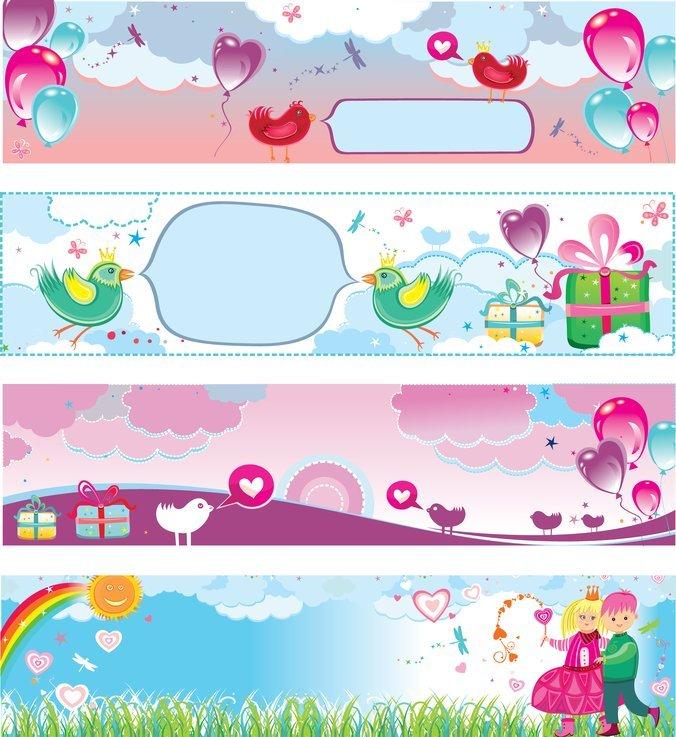 Banner Vector Cute