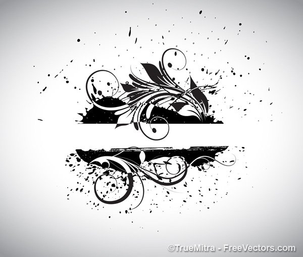 Grunge Swirly Banner