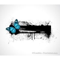 Butterfly Splash Banner