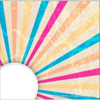 Abstract Vintage Sunburst Banner
