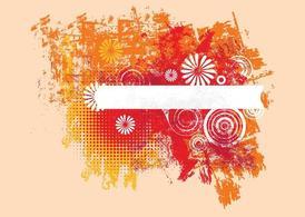 Grunge Floral Layout