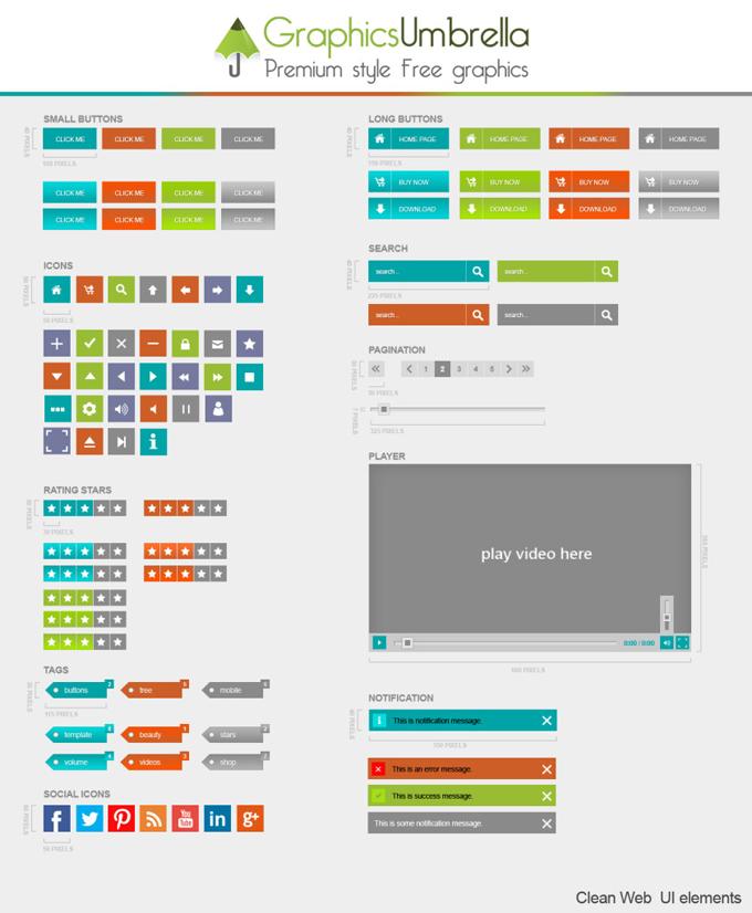 Clean Web UI Elements