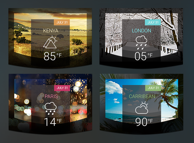 Fancy Weather Widgets
