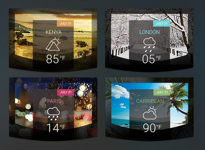 Fancy Weather Widgets