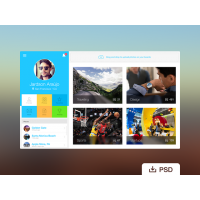 Free PSD: Webapp Profile