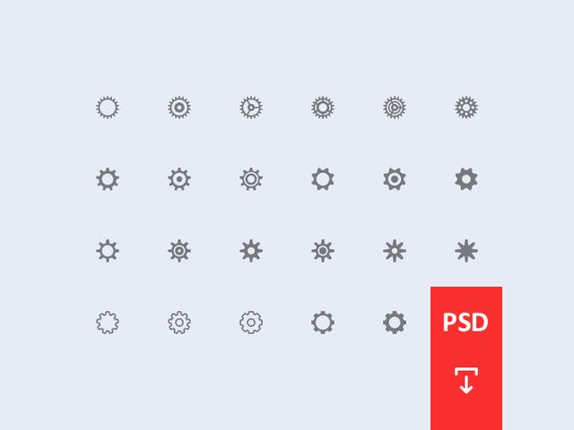Cogwheel Icons [PSD]