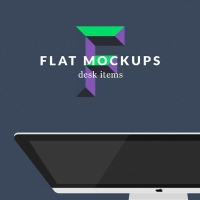Flat MockUps - Desk Items
