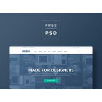 FREE PSD Creative Portfolio Bootstrap 3 Template