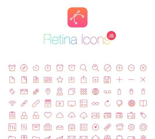 RetinaIcon - 120 Retina Icons