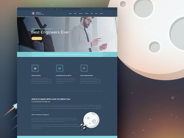 Atech Business & Technology PSD Theme