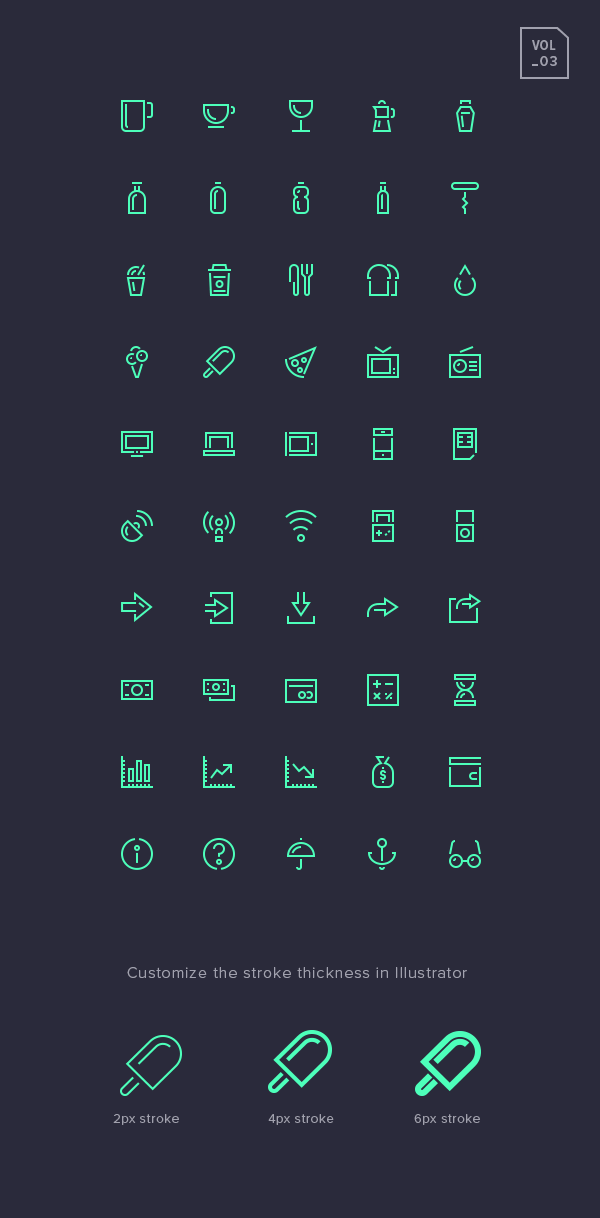 Stroke Gap Icons Set Vol.3