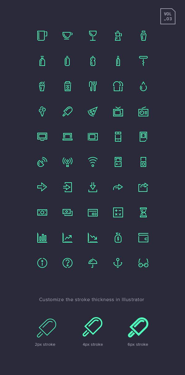 Stroke Gap Icons Set Vol.3