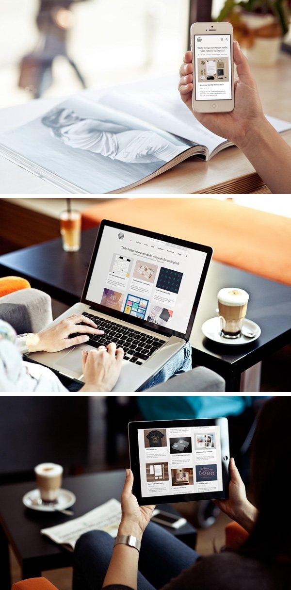 Photo MockUps - iPhone, iPad & MacBook
