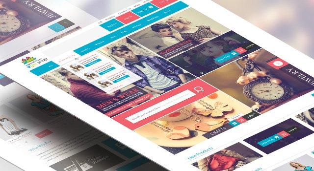 Modern Modular Gift Shop E-Commerce Website PSD Design