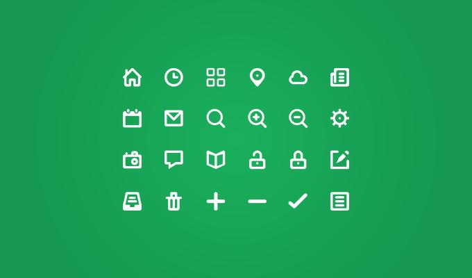 24 Glyph Icons