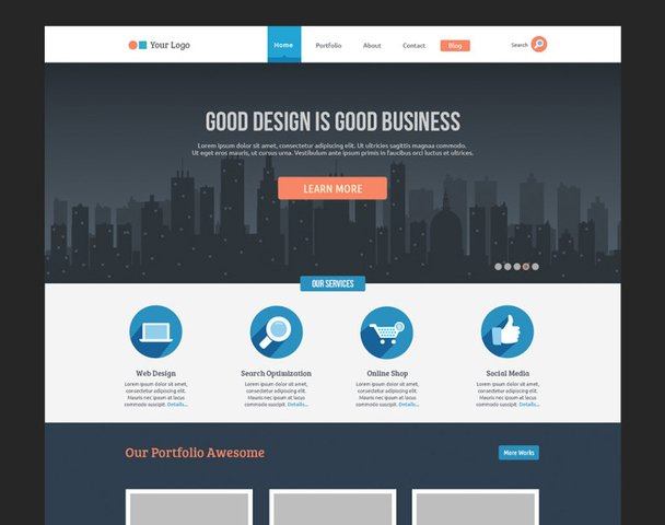 Flat Business Template