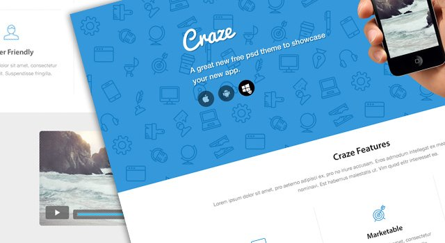 Craze Trendy Landing Page Website Вesign