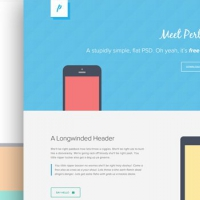 Freebie PSD: Perth - A Free Flat Web Design