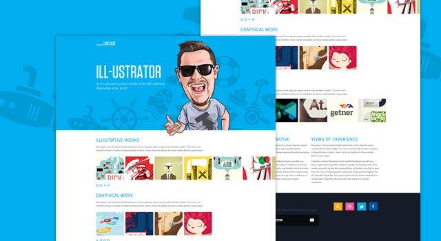 LineCase - Fresh & Bright Website PSD
