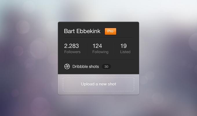 Dribbble Profile Widget