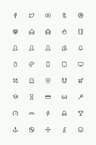Simple Line Icons Set Vol.4
