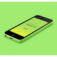 3D View iPhone 5C Psd Vector Mockup