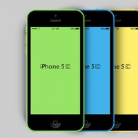 New iPhone 5C PSD Mockup