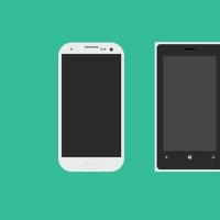 Flat Mobile Phones