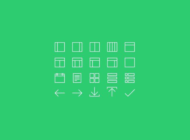 20 Thin Line Icons