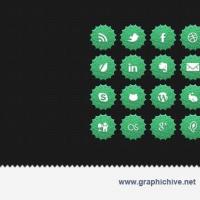 Green Nature Social Media Icons (Psd)