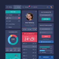 Flat Design UI Components