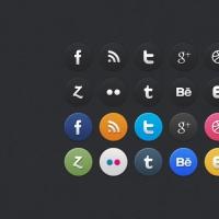 24 Circle Social Media Icons