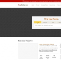 Real Estate Website Free PSD Tempate