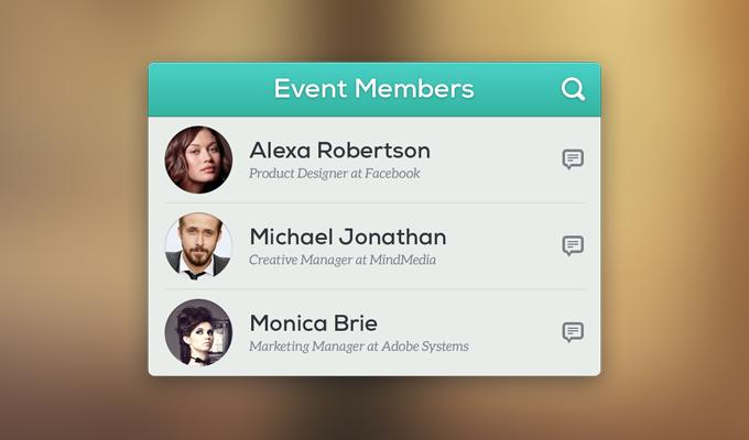 Event Members PSD