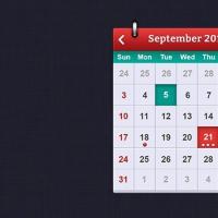 PSD Calendar interface design for iOS