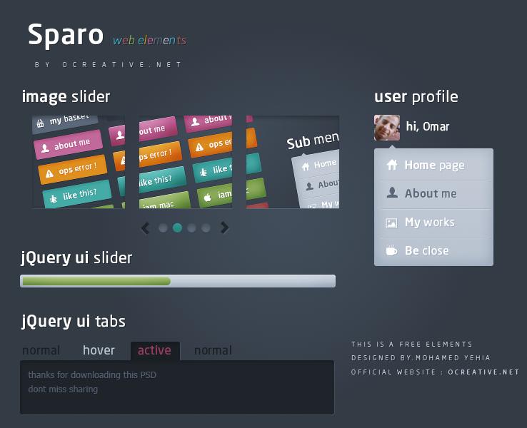 Sparo Web Elements
