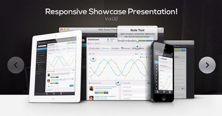 Responsive Showcase Psd Vol2