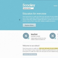 Primary School Free Website PSD Theme