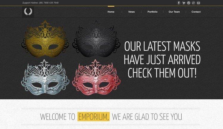 Emporium Free Ecommerce PSD Website Template