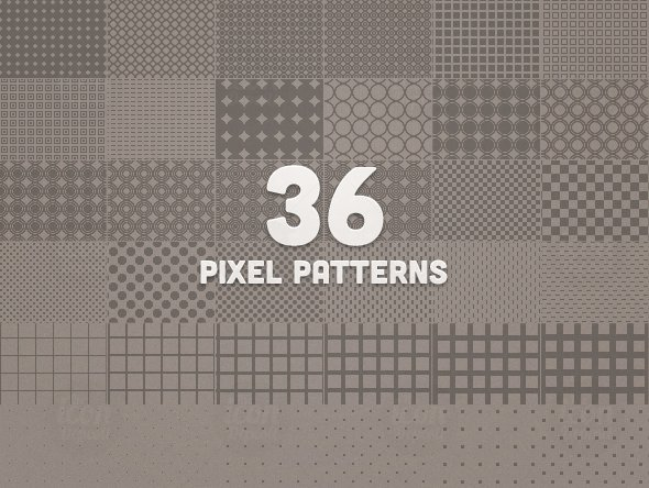 36 Pixel Pattens (.PAT)