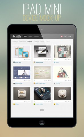 iPad Mini Mock-up Template