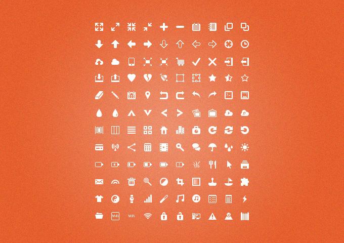 Silkcons:120 Glyphs Set
