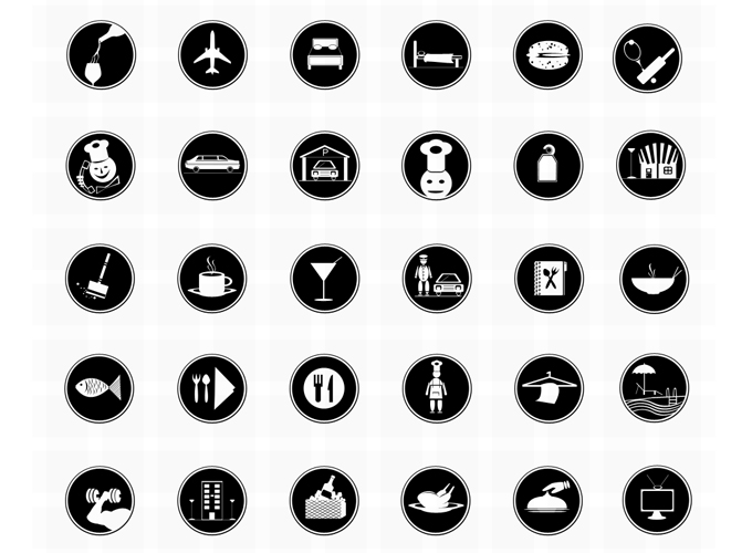 Free vector Photoshop Restaurant or Hotel icons