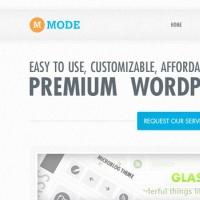 Mode - A fresh & modern website design PSD