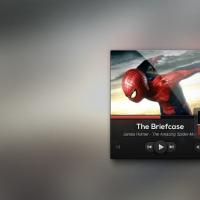 Dark UI Music Player Design Psd
