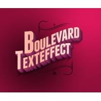 Psd Boulevard Retro Text Effecto