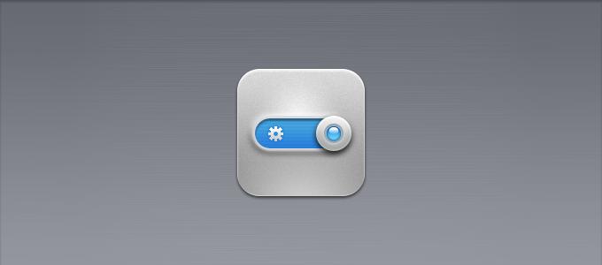 iOS Settings Icon PSD