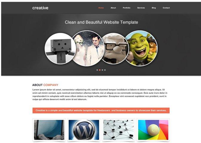 Creative Free PSD Template