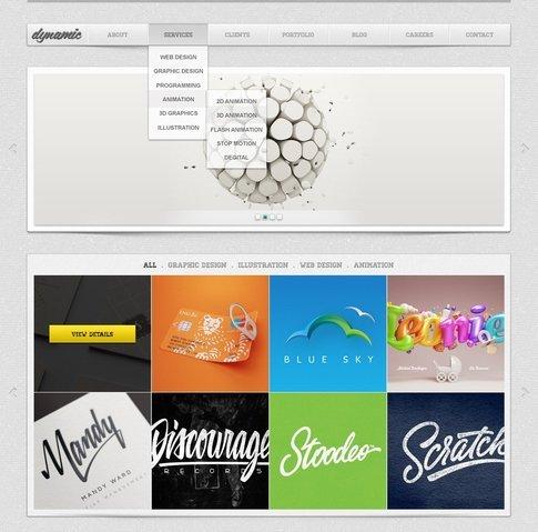 Dynamic Free PSD Website Template